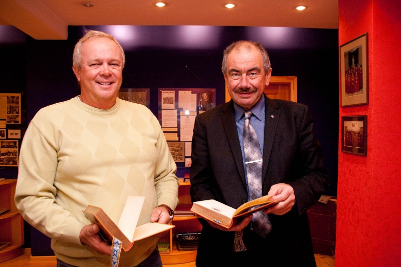 20.10.2015. Great-grandson of Vladimirs Bukovskis visits the museum of the Supreme Court