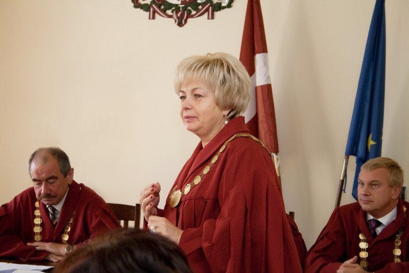 15.09.2014. The Plenary Session or the general meeting of judges re-elected Inara Garda, the judge of the Department of Civil Cases of the Supreme Court, to the office of a member of the Council for the Judiciary for next four years
