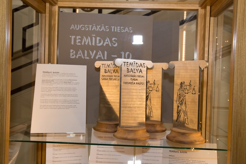 18.12.2015. Exhibition about 10 years of Themis Award of the Supreme Court is created