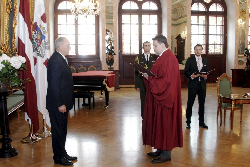 15.07.2014. The President of the State takes judge's oath of Aigars Strupiss