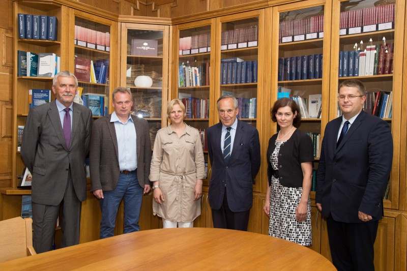 01.07.2016. Sir Francis Jacobs, the professor at King's College London, visits the Supreme Court of Latvia