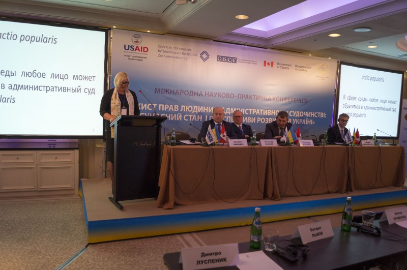 """01.10.2015. Veronika Krumina, the Chair of the Department of Administrative Cases of the Supreme Court, and Jautrite Briede, the judge of the same department, reported at in international research and practical conference """"Human Rights Protection within Administrative Justice Nowadays and Perspectives for Ukraine"""". Veronika Krumina shared experience on role and challenges met by administrative courts in Latvia, and Jautrite Briede, in turn, presented a report on disclosure of confidential information at the disposal of public administration in public interests."""