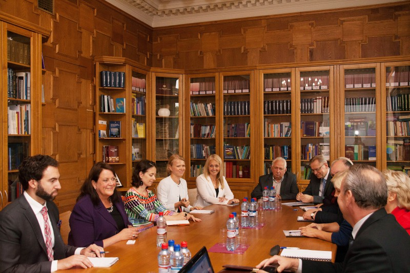 21.09.2015. Judges of the Department of Criminal Cases meet the US judge Virginia M. Kendall