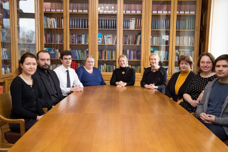 07.03.2016.  The Division of Case-law was reorganised as from 1 January, transforming it into the Division of Case-law and Research. Along with expansion of functions, the personnel of the division were also expanded, being completed on 7 March. From the left: Nora Magone, Juris Kalnins, Aleksandrs Potaicuks, Zinaida Indruna, Anita Zikmane (the Head of the Division), Dace Sulmane, Anda Krastina, Solvita Harbacevica and Reinis Markvarts.