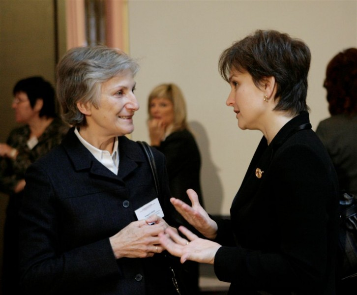 The Chief Justice of Austria's Supreme Court Irmgard Griss and the judge of the European Court of Human Rights Ineta Ziemele