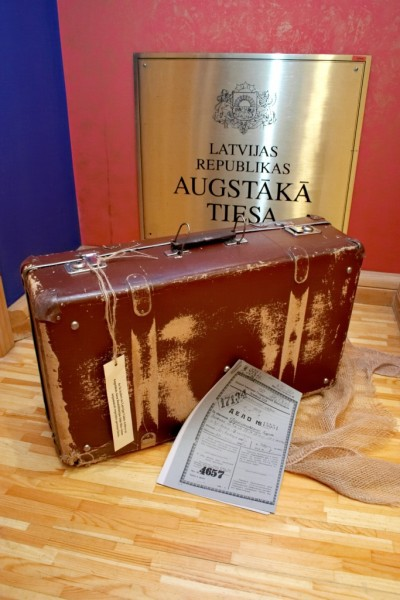 In the museum of Supreme Court one may see a suitcase in which cases of persons illegally subjected to retaliation were taken from the State archive of Latvia to the Division of Rehabilitation of the Supreme Court.