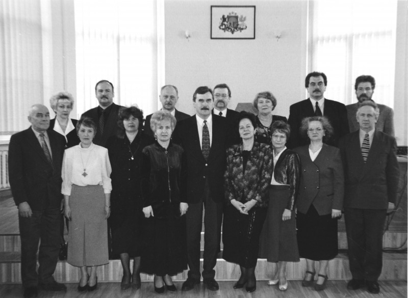 Chairpersons of the Supreme Court and judges of the Chamber of Criminal Cases participate in opening of the renovated courtroom for the Criminal Cases in 1998