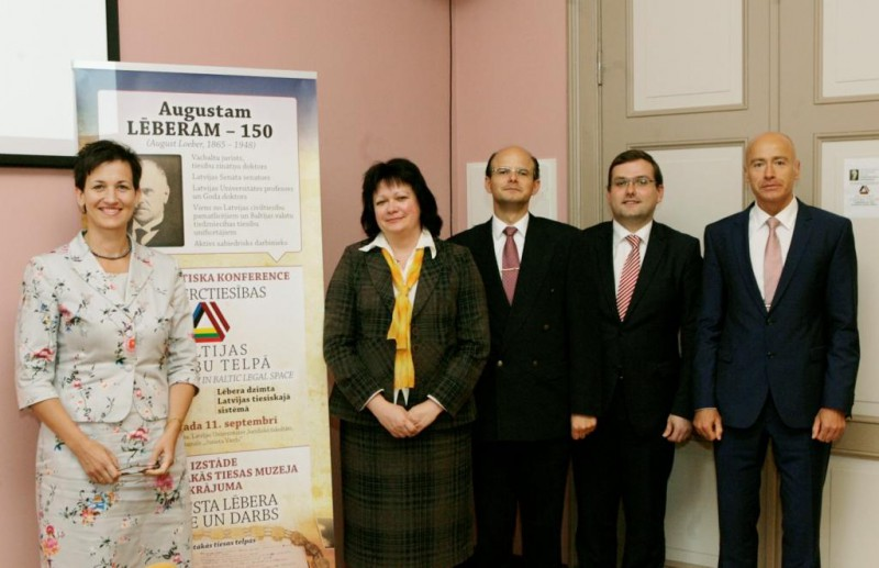 Lecturers of Session II of the Conference: Dina Gailite, Signe Terihova, Edvins Danovskis, Janis Pleps and Janis Lazdins