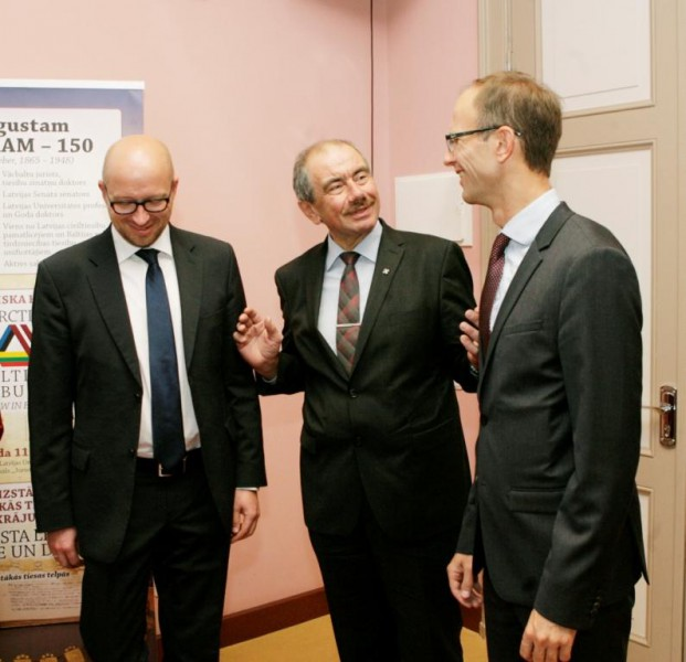 Chief Justices of Supreme Courts of three Baltic States: (from the left) Estonia - Priit Pikamäe, Latvia - Ivars Bickovics, Lithuania - Rimvydas Norkus
