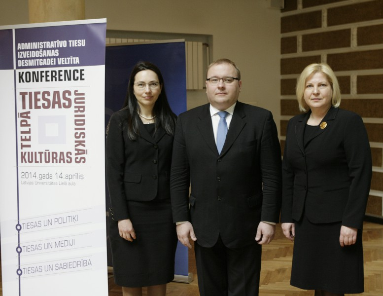 Heads of administrative courts: (from the left) Ilze Freimane, the Chair of the Administrative district court; Maris Vigants, the Chair of the Administrative regional court and Veronika Krumina, the Chair of the Department of Administrative Cases of the Supreme Court
