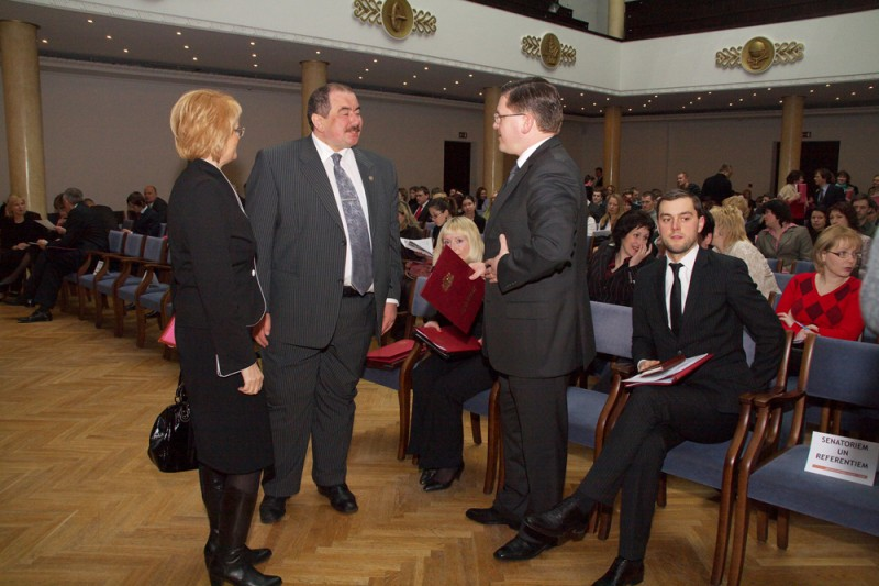 The Chair of Juridical Committee of Saeima Vineta Muizniece, the Chairman of the Supreme Court Ivars Bickovics and Minister of Justice Mareks Seglins