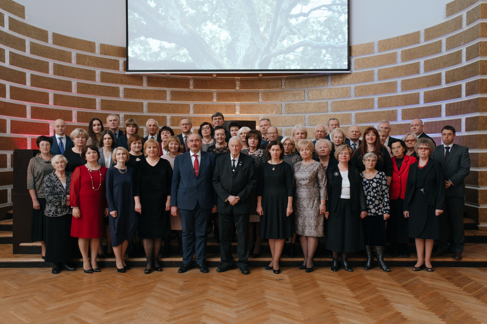 19.12.2018. The centenary of the highest court of Latvia – the Senate – was solemnly celebrated having a look back at the work done. Photo: Former and current judges of the Supreme Court.