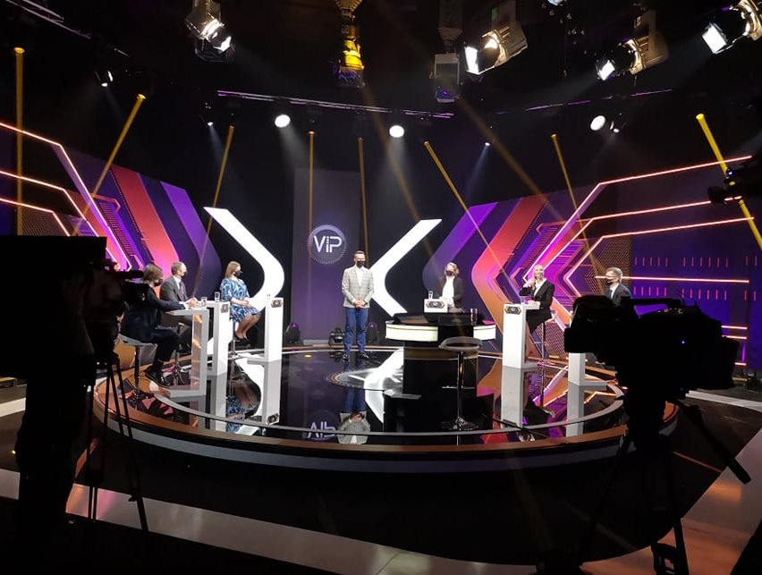 03.05.2021. Administrative Justice teams participating in V.I.P. erudition game on Latvian television