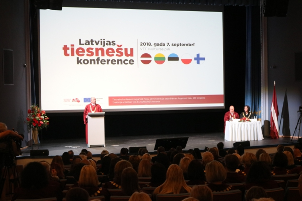 """07.09.2018. """"Each judge in the courtroom is the face of the judicial system of Latvia for those people who have turned to the court and have come to the court often only once in a lifetime"""", Ivars Bickovics, the Chief Justice of the Supreme Court and Chair of the Council for the Judiciary, reminded to all judges at the Latvian Judges' Conference.  This year's Latvian Judges' Conference was devoted to the centennial of the Latvian judicial system and its prospects for the future."""