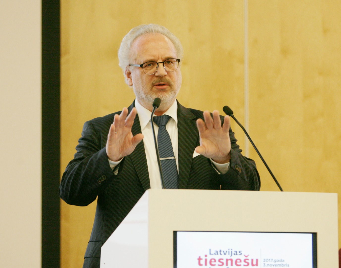 03.11.2017. Egils Levits, Judge of the Court of Justice of the European Union, speaks at the Latvian Judges' Conference
