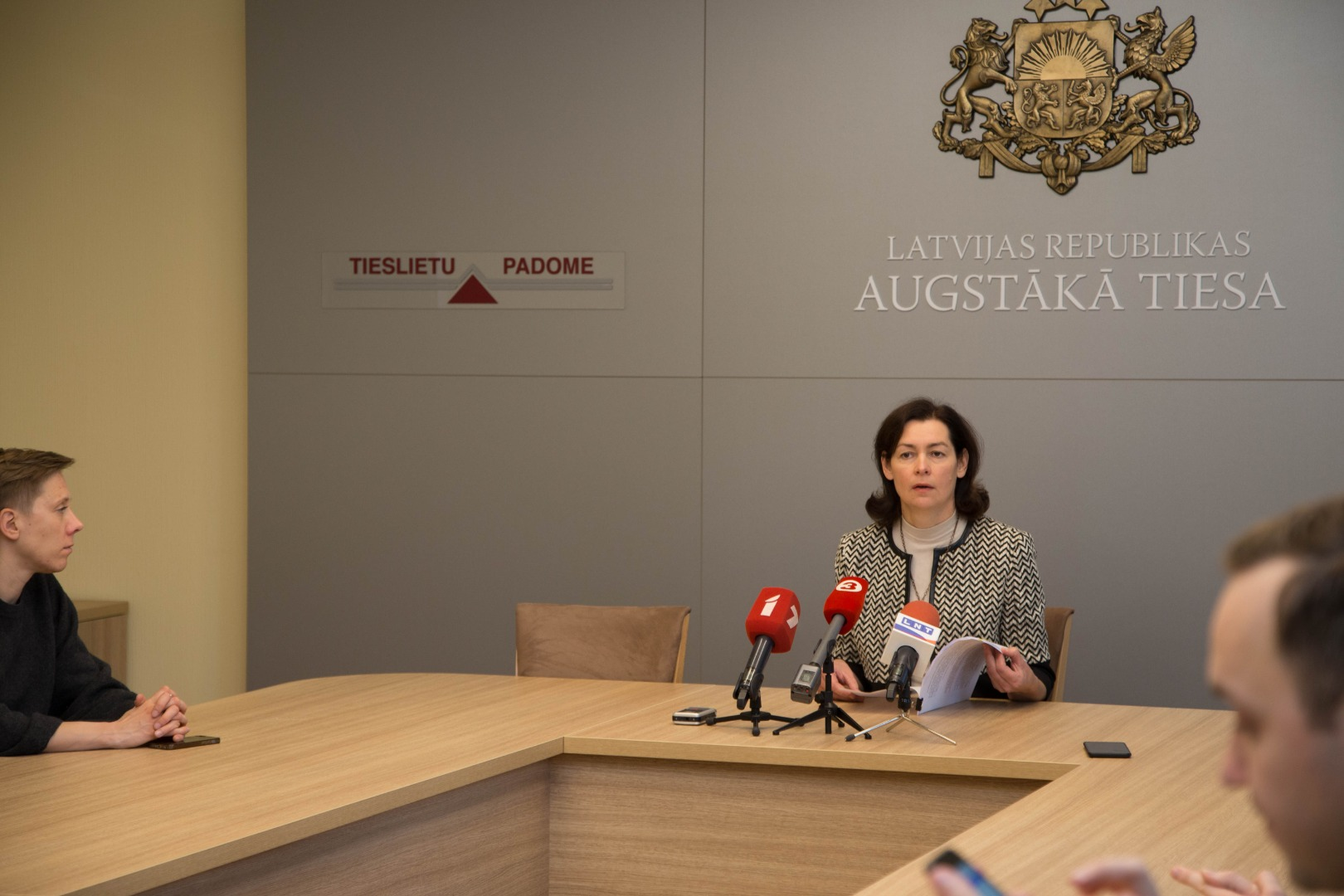 18.10.2019. The Plenary Session of the Supreme Court heard and discussed Senator Marik Senkane's report on the examination of the grounds for dismissing the Prosecutor General, heard the Prosecutor General and the Minister of Justice and found that there were no grounds for dismissing Prosecutor General Eriks Kalnmeiers. The decision to carry out the examination of the grounds for dismissing the Prosecutor General was taken by the Chief Justice of the Supreme Court at the request of 39 members of the Saeima (Parliament). Senator Marika Senkane was mandated to verify the facts set out in the deputies' request.