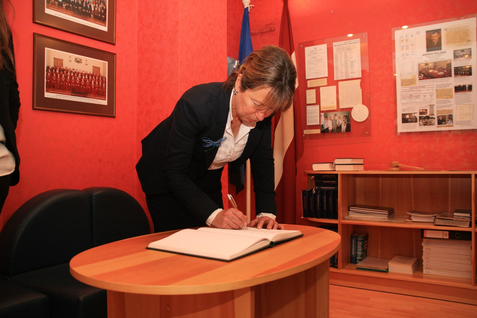 16.11.2016. The Supreme court is visited by the president of the European Law Institute Diana Wallis