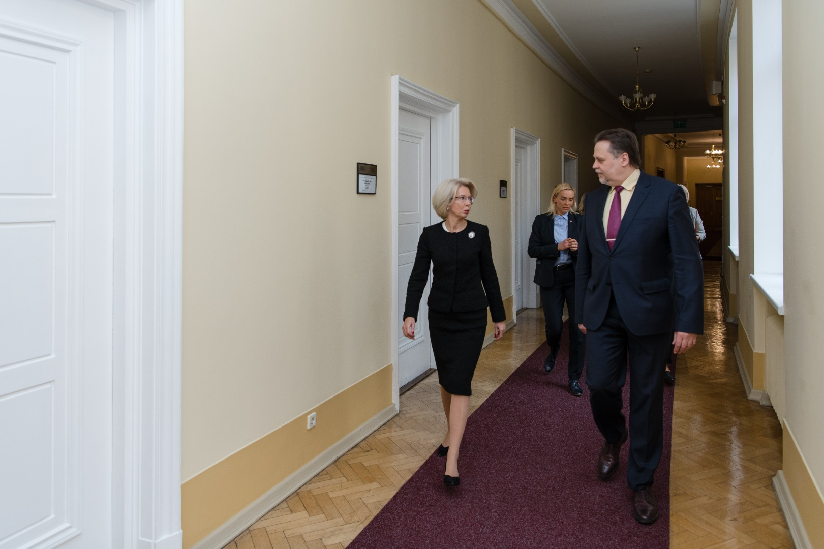 06.10.2020. Aigars Strupiss, the Chief Justice of the Supreme Court, and Inara Murniece, the Speaker of the Saeima (Parliament) held a meeting at the Supreme Court and discussed the ways how to strengthen the rule of law and justice in Latvia. Photo by the Saeima Press Service