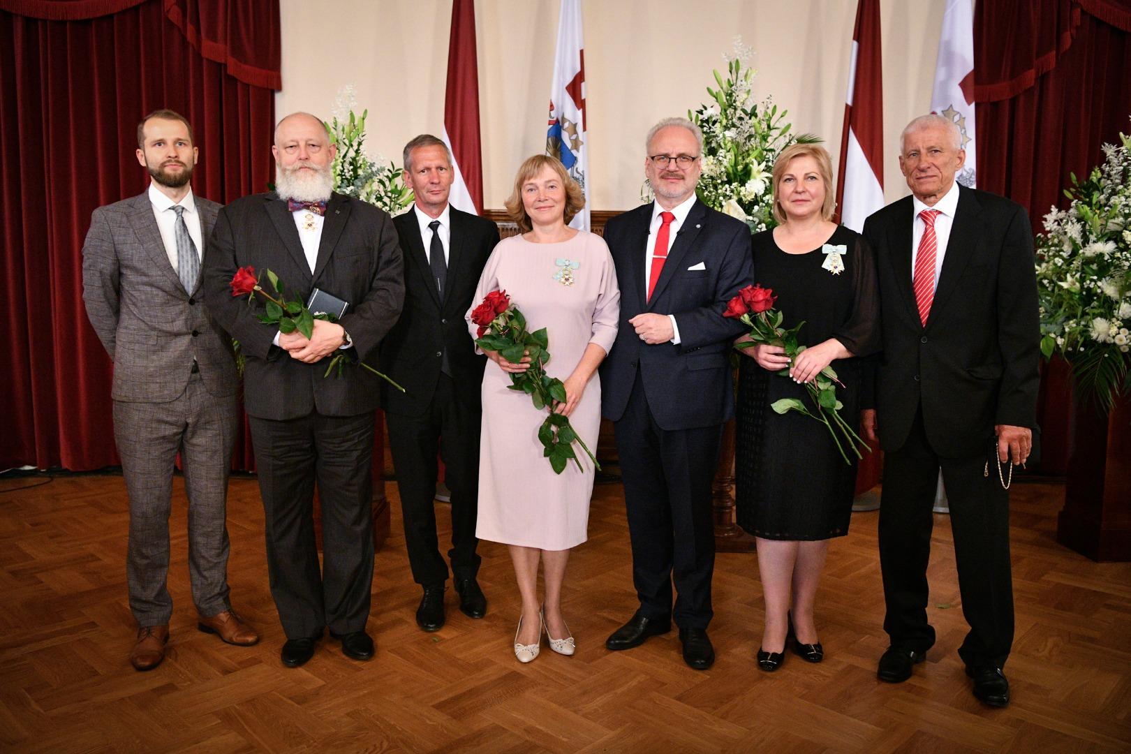 21.08.2020. Having assessed the professional contribution to the development of the judicial system and to the strengthening of the rule of law, the Chair of the Department of Administrative Cases of the Senate Veronika Krumina and Senator Jautrite Briede were awarded the Order of the Three Stars. President Egils Levits presented the award on the anniversary of the adoption of the Constitutional Law ''On the State Status of the Republic of Latvia''.