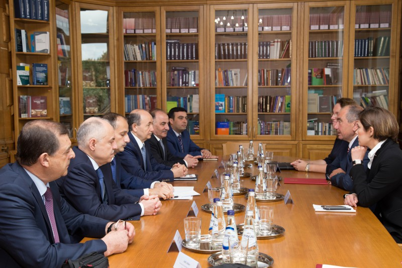 14.09.2017. The Supreme Court is visited by the Azerbaijani delegation led by Minister of Justice of Azerbaijan Fikrat Mammadov