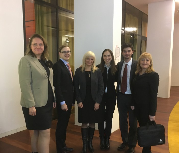 Latvian delegation, together with the former employee of the Supreme Court Marina Borkoveca who is currently working at the European Court of Justice