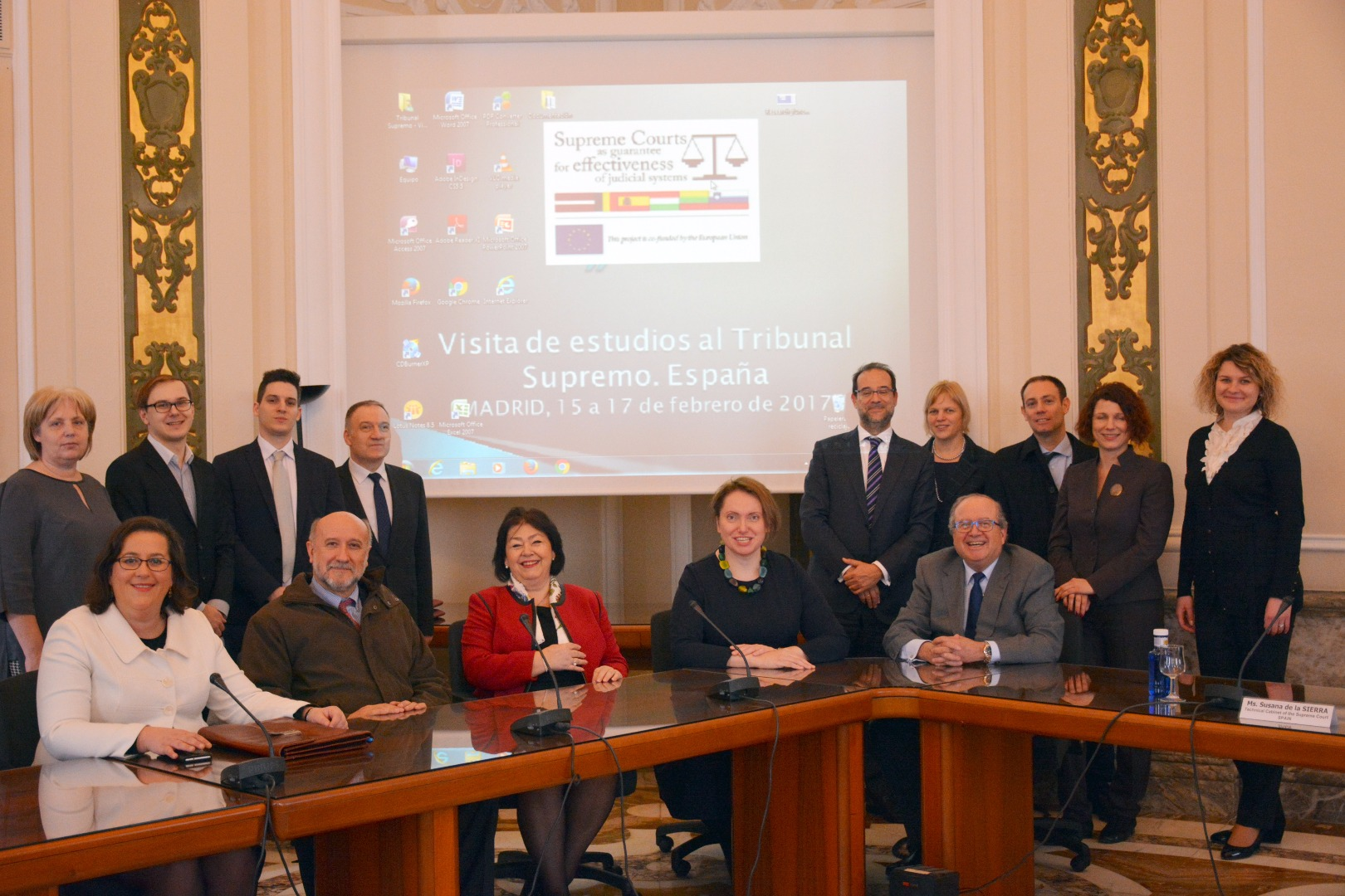 Representatives of Supreme Courts of Spain, Lithuania, Latvia and Hungary meet at the Supreme Court of Spain