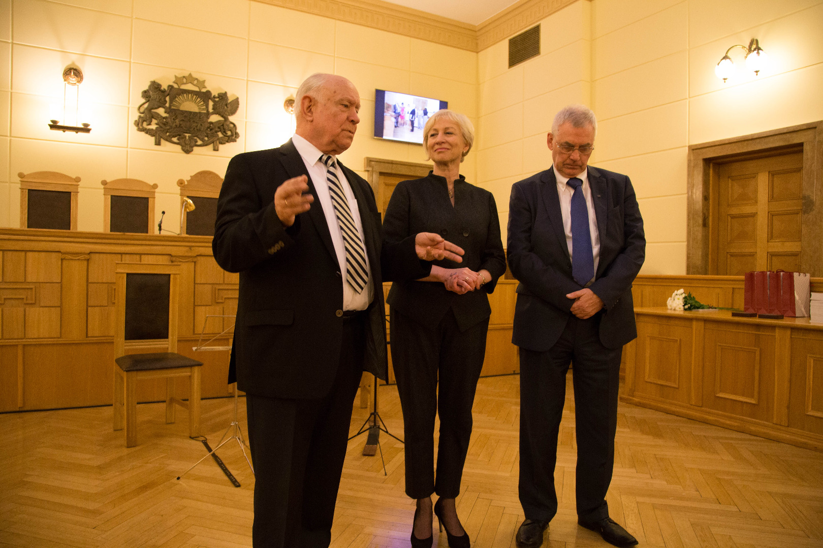 Three chairpersons of the Chamber of Civil Cases – Gunars Aigars, Ineta Ozola and Raimonds Gravelsins