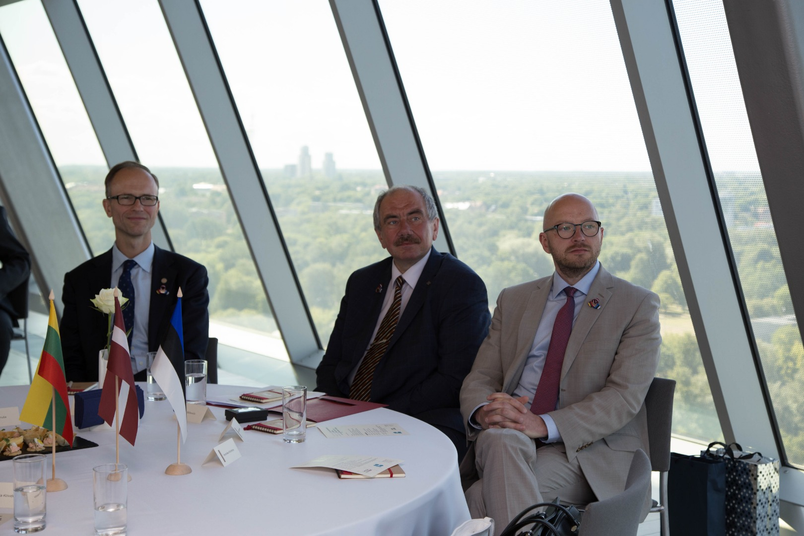 Rimvydas Norkus, President of the Supreme Court of Lithuania, Ivars Bickovics, Chief Justice of the Supreme Court of Estonia, and Priit Pikamäe, Chief Justice of the Supreme Court of Estonia