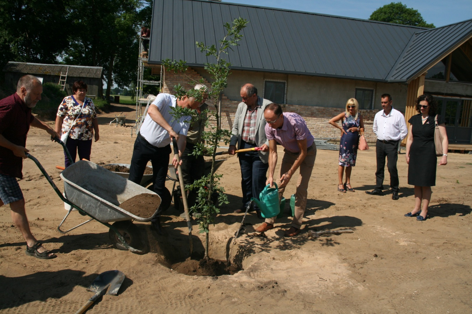 """In village """"Auci"""" an oak is planted in honour of Cakste family"""
