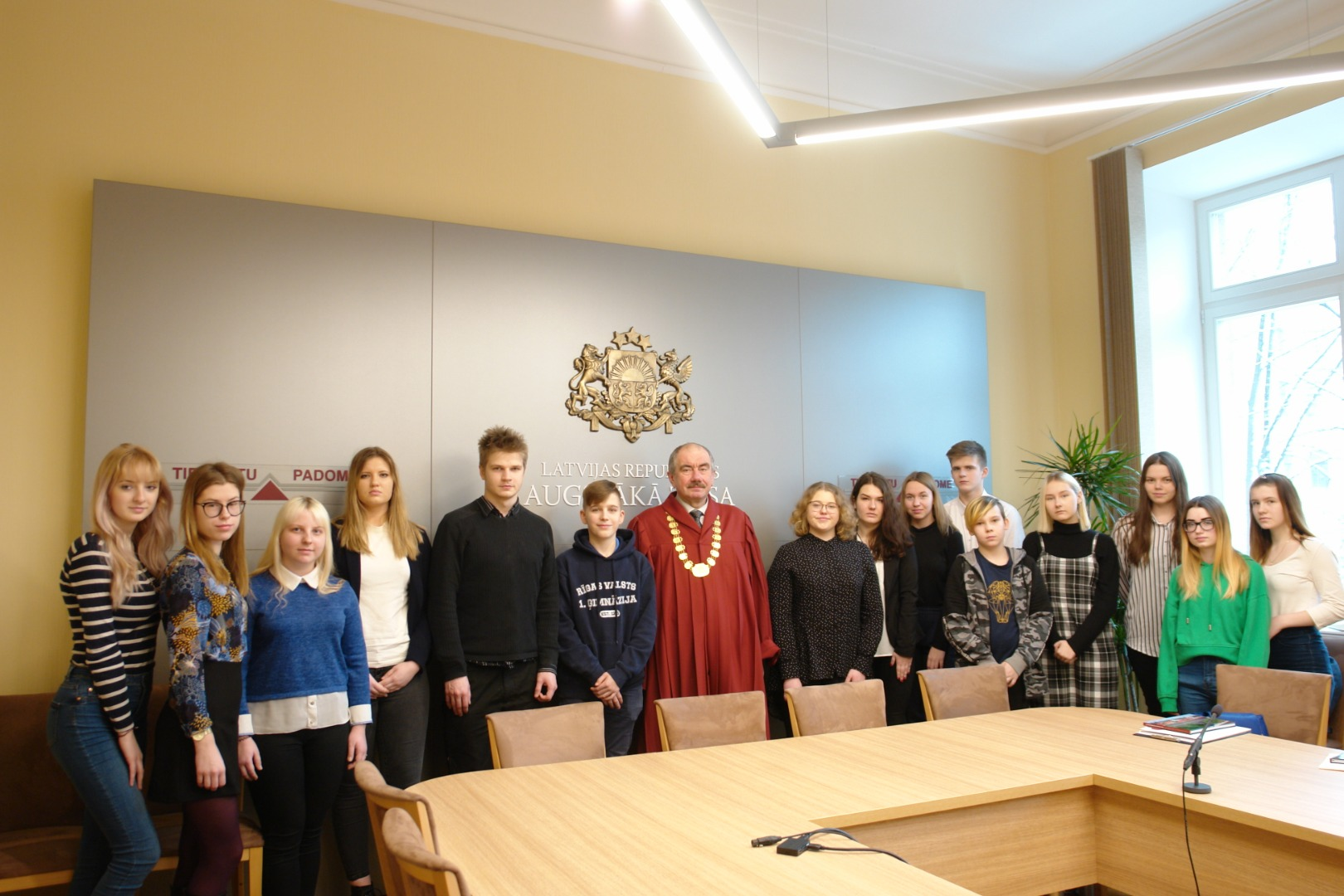 At the conclusion of the Shadow Day, a photoshoot with Chief Justice Ivars Bickovics
